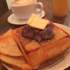 おやつin中板橋『1ROOM Coffee(ワンルームコーヒー)/あんバタートースト』の画像