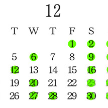 12月の出勤情報⭐️