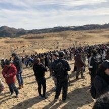 鳥取砂丘で11月24…