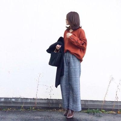流行中のグレンチェックのワイドパンツ着回し♡ Francfrancでクリスマスツの記事に添付されている画像