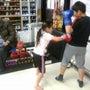 兄妹でボクシング