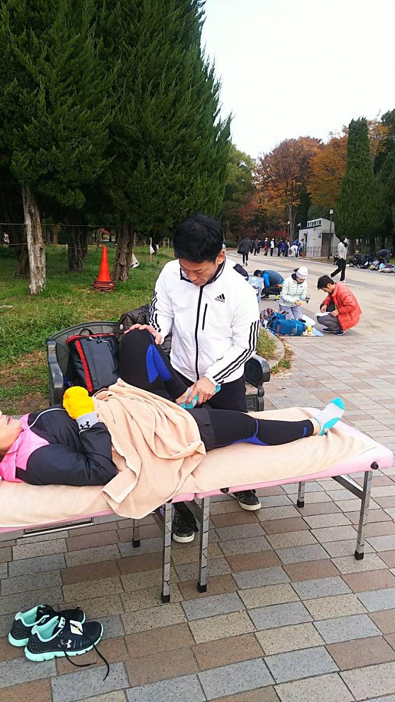 2017年大阪マラソンに参加する大阪国際がんセンターのがん患者さんのチーム元気マラソンのメディカルサポート
