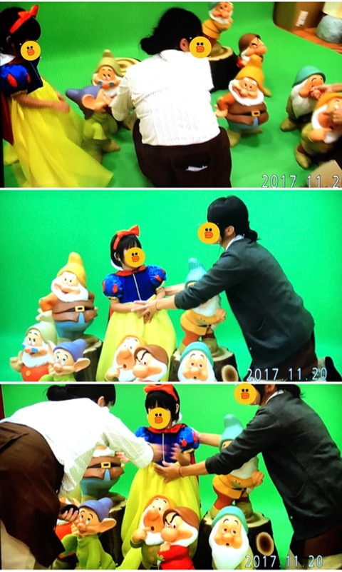 11月 スタジオアリス 白雪姫の衣装編 プリンセス 背景 7人の小人 未婚