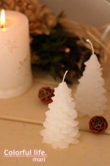 ホワイトツリーのキャンドル