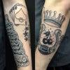 刺青★ラッキーアイテム(腕)B&G!の画像
