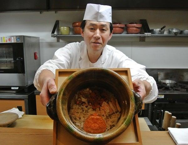 祇園いわさき 岩崎道一店主&香箱ご飯