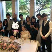 旧友の結婚式に磯川家…