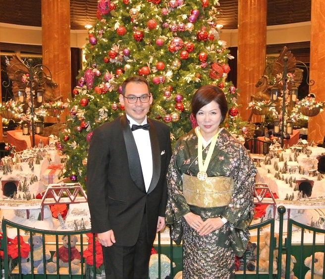 ウエスティンホテル東京 ツリー前 師井氏&由美ママ