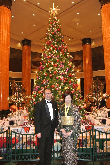 ウエスティンホテル東京 ツリー前 師井氏&由美ママ2