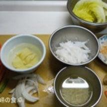 小さ目白菜でロール煮…
