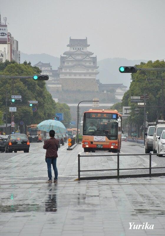 21雨の姫路城