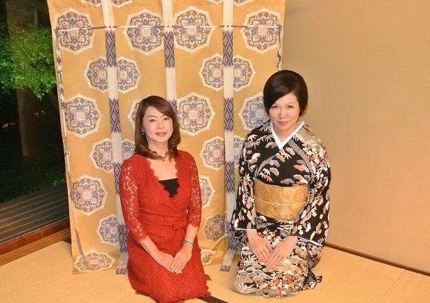 八芳園 壺中庵 楓の間 美佐子さん&由美ママ