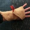 ワークショップ計画中・ホームスパン手袋の画像
