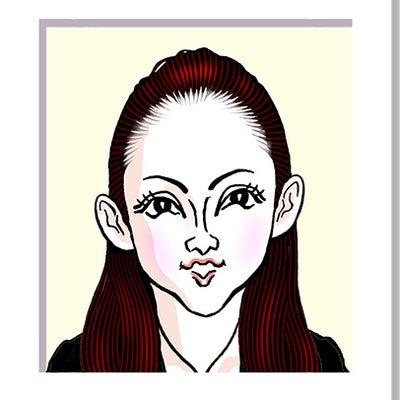 安室奈美恵さんの似顔絵の記事に添付されている画像