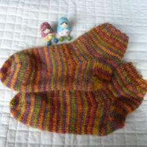 ぬっくぬく手編み靴下…