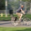 自転車で転倒後の右膝…