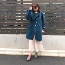 ブルーのコート♪