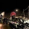 冬空に浮かぶ満月が幻…