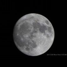 お月様を見て