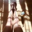 綺麗でまっすぐな脚の…