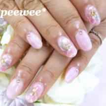 ピンク系ふんわりお花…
