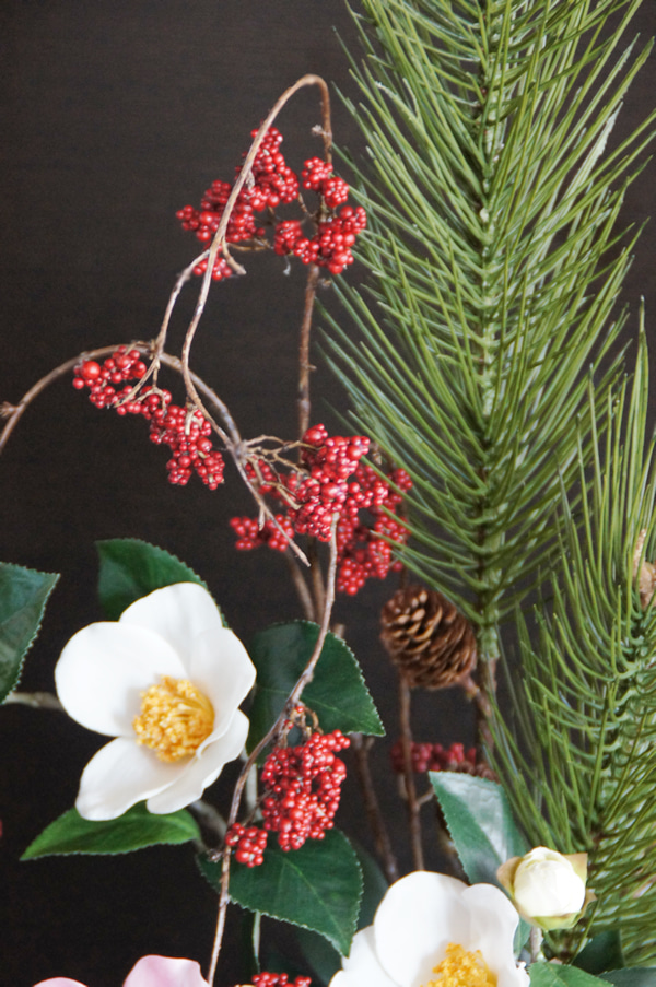 造花 正月飾り 子宝松 正月 アートフラワー