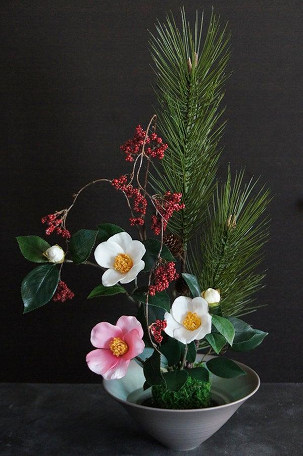 いけばな 池坊 水盤 いけのぼう 造花