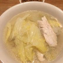 晩ごはんは鶏肉と白菜…