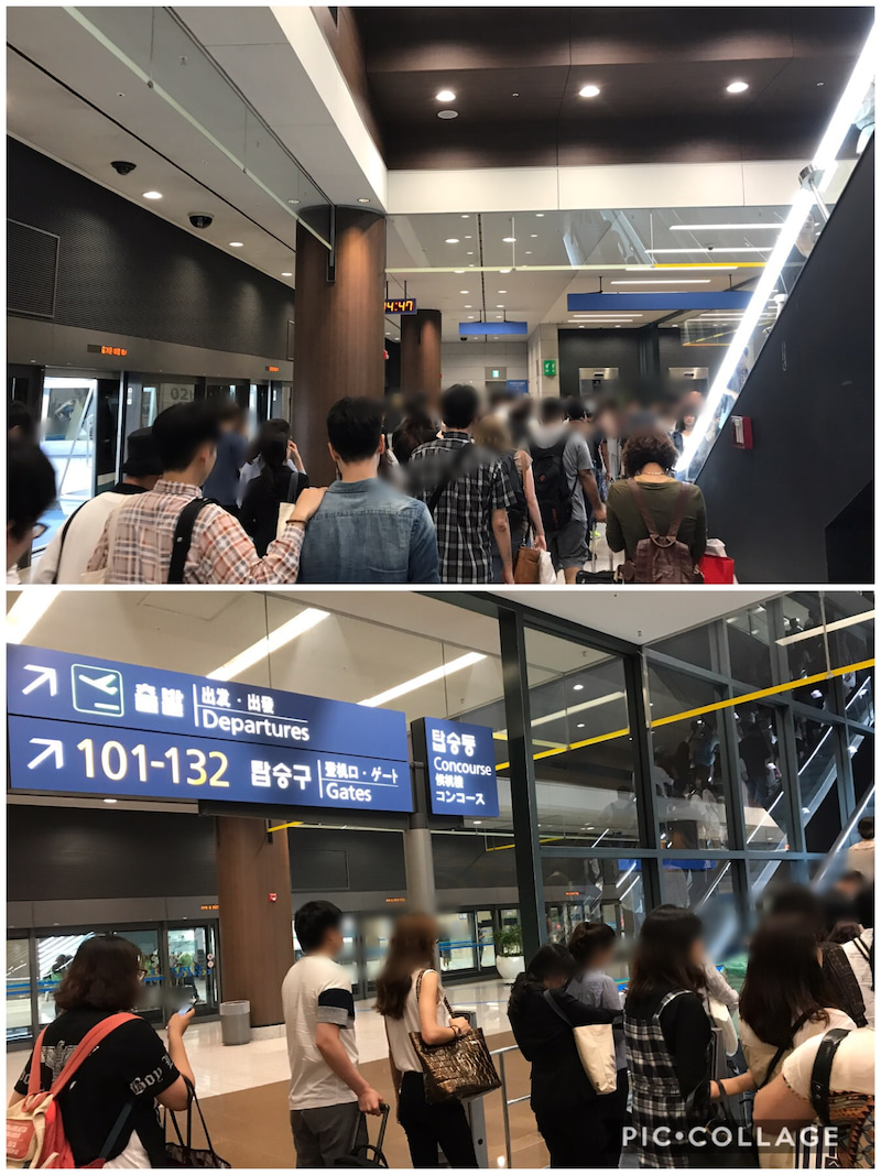 仁川国際空港内のシャトルトレイ...
