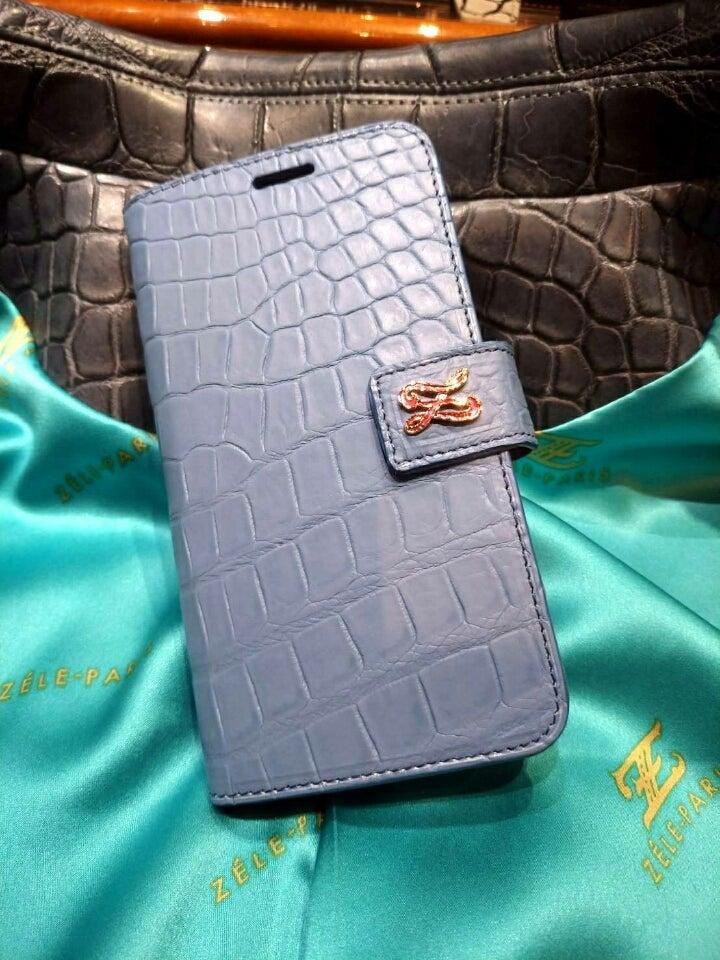 8a253613a950 『クロコダイルiPhone Xケース』ペールパープル | 本革クロコダイルオーダーメイド | 銀座 ZELE-PARIS Blog