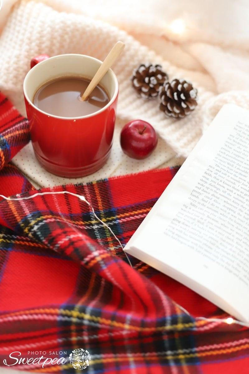 おしゃれ フォト 写真 冬 マフラー 毛糸 ホットドリンク マグカップ