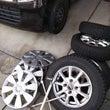 嫁の車のタイヤ交換と…