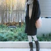 UNIQLO 冬に映えるホワイト×グレーの配色