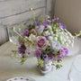 紫のゲストテーブル装…