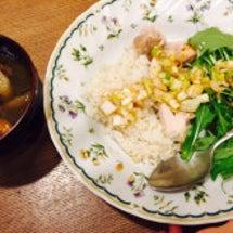 海南鶏飯とけんちん汁