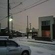 福井市内、初降雪