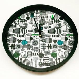 【レッスン作品】デコパージュ壁掛け時計の画像