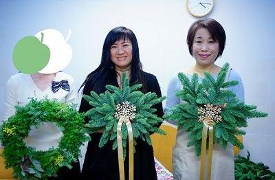 クリスマスリース 東京 銀座 フラワースクール