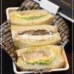 甘い和風サンドイッチと甘くないサンドイッチのお弁当~受験生と大学生のための片手で食べれるお弁当~