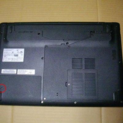 富士通 FMV LIFEBOOK AH53/U HDD 換装の記事に添付されている画像
