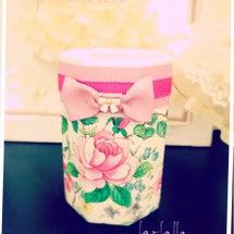 お花柄とリボンの組み…