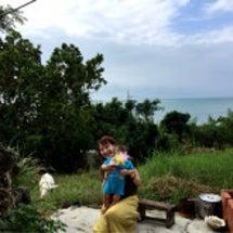 海とヤギと息子と。