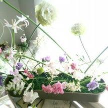 交差に生ける お花【…