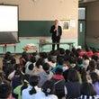 母校の小学校で夢講演…