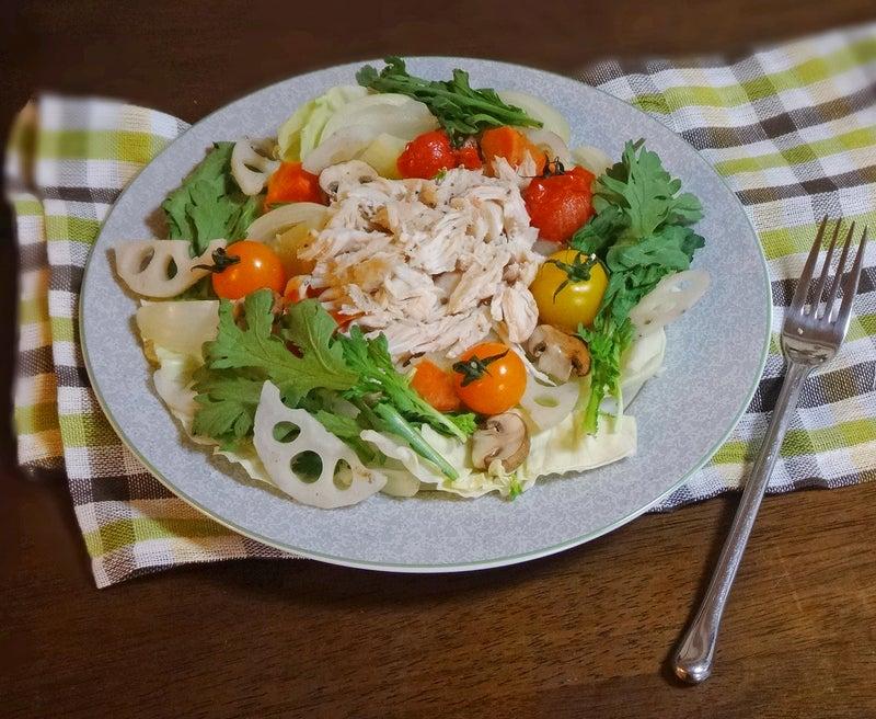鶏ささみと彩り野菜の温サラダ