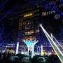 12月の夜の博多駅前
