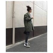 カーキ×グレー×ブラック配色の楽チンカジュアルコーデ/スタイル本