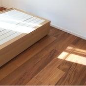 無印良品のベッド。あえて選んだ違う素材。あえて選んだヘッドボードなし。