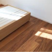 無印良品のベッド。あ…