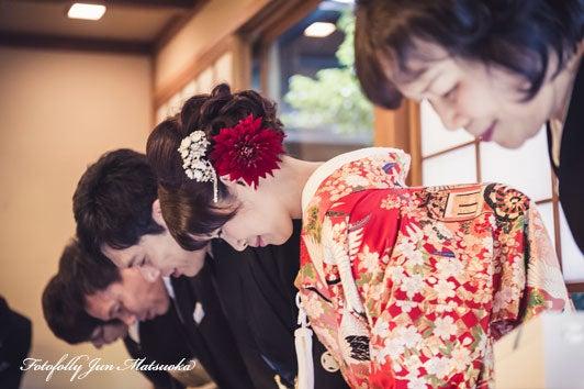 つきじ治作 ウエディングフォト 披露宴謝辞一礼 ブライダルフォト 結婚写真